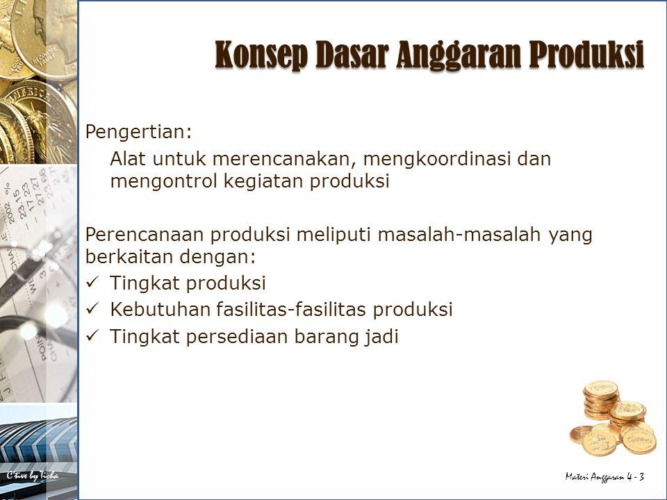 Konsep Dasar Anggaran Produksi