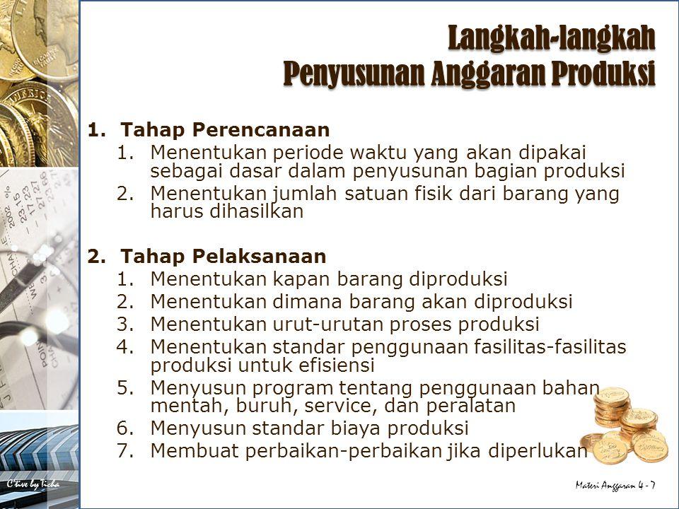 Langkah-langkah Penyusunan Anggaran Produksi