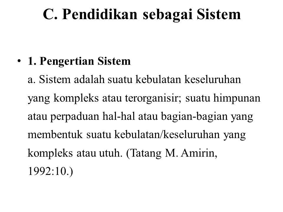 C. Pendidikan sebagai Sistem