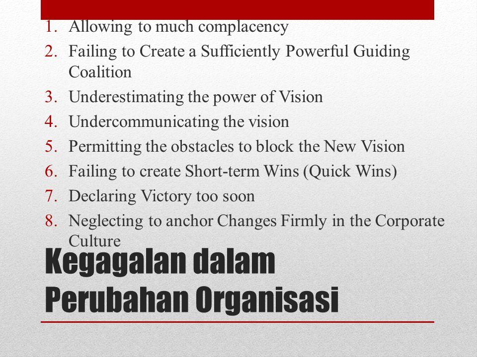 Kegagalan dalam Perubahan Organisasi