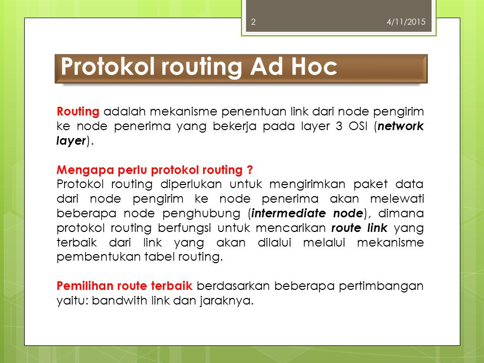 Protokol routing Ad Hoc