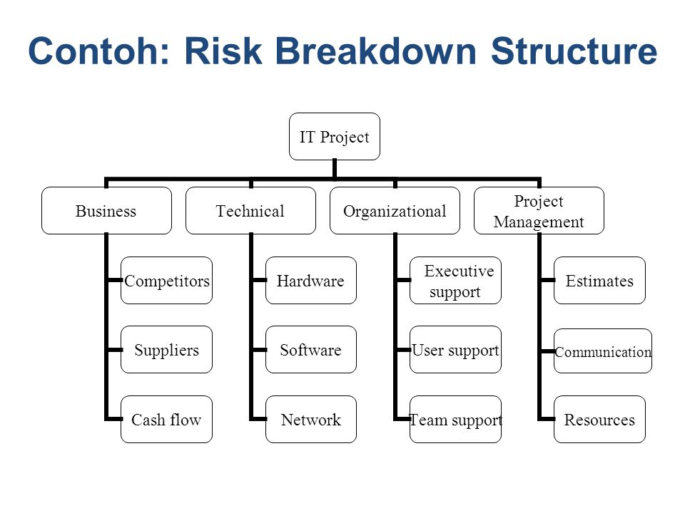 Contoh: Risk Breakdown Structure