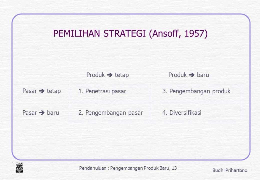 PEMILIHAN STRATEGI (Ansoff, 1957)