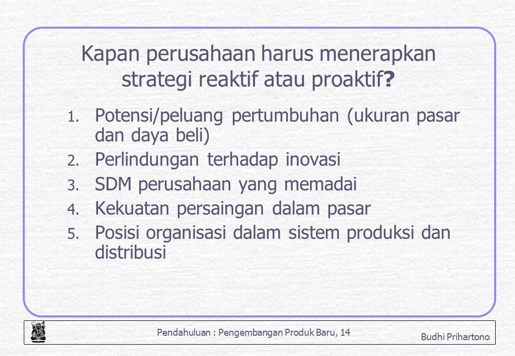 Kapan perusahaan harus menerapkan strategi reaktif atau proaktif