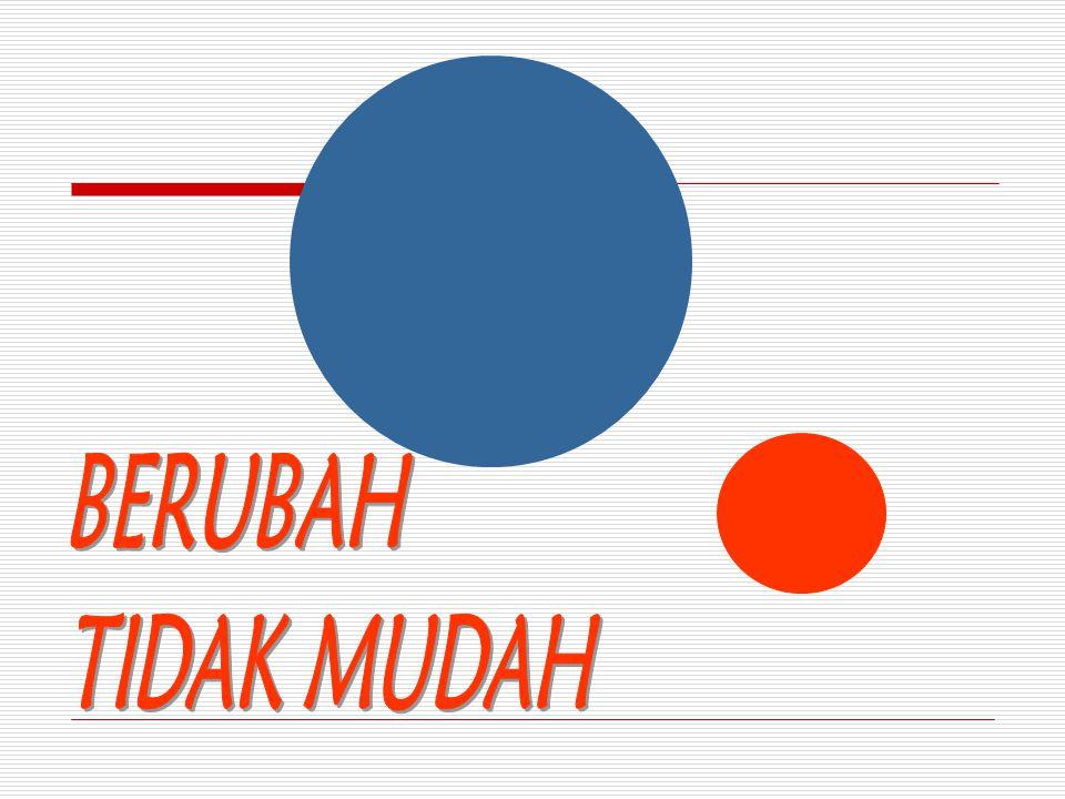 BERUBAH TIDAK MUDAH