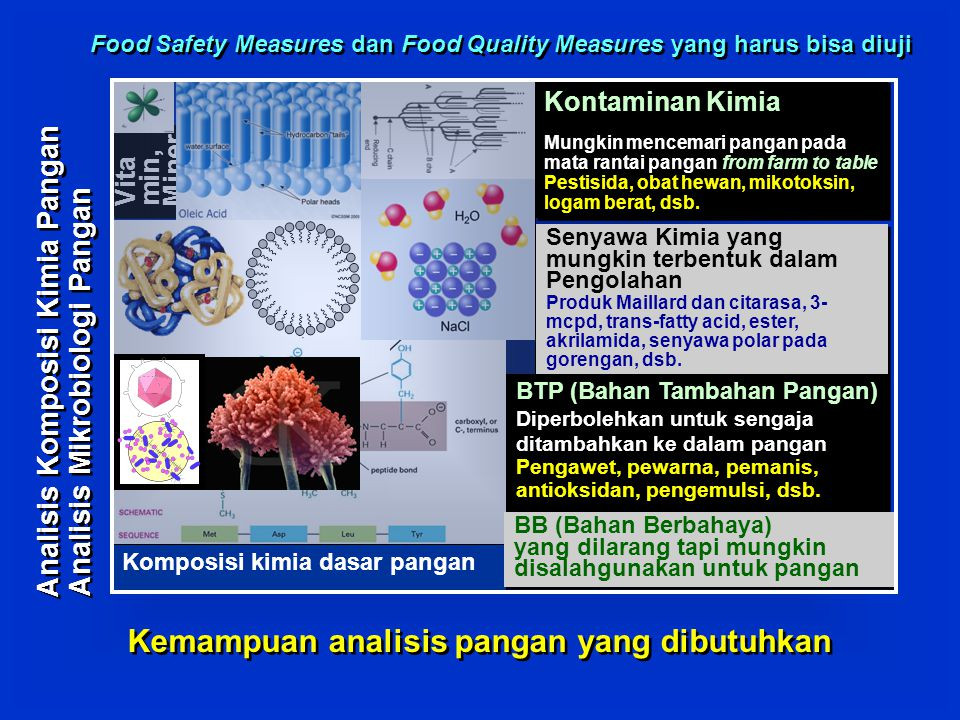 Kemampuan analisis pangan yang dibutuhkan