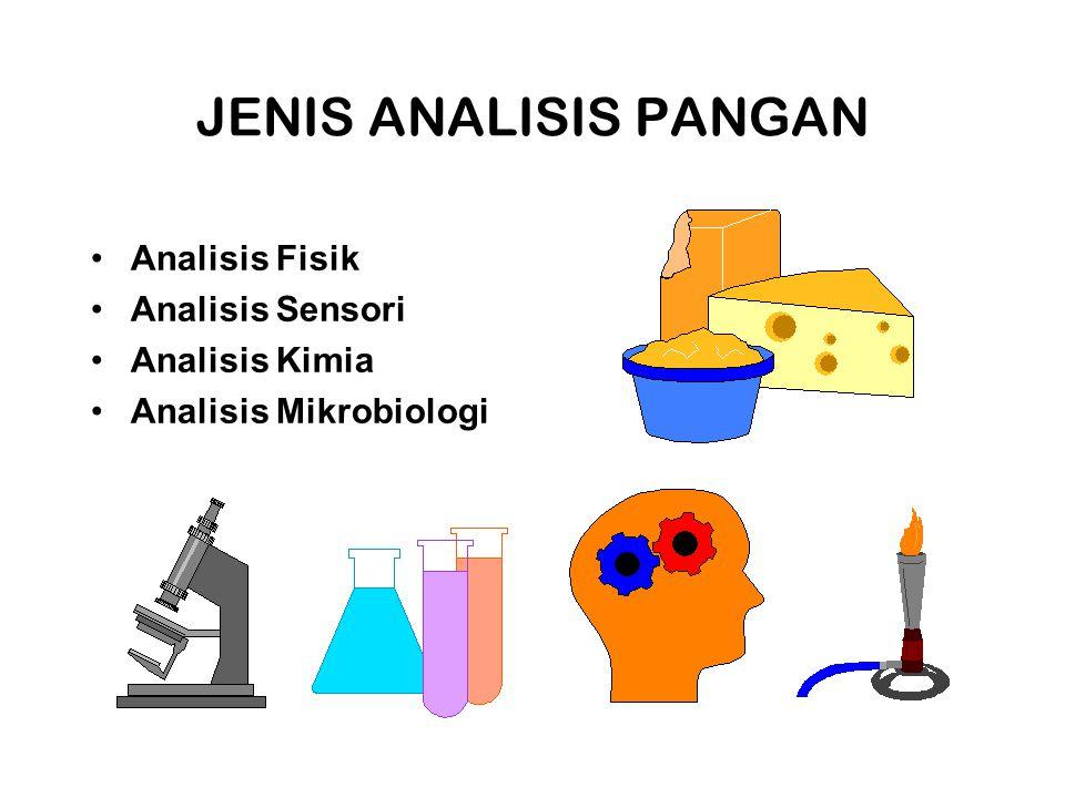 JENIS ANALISIS PANGAN Analisis Fisik Analisis Sensori Analisis Kimia