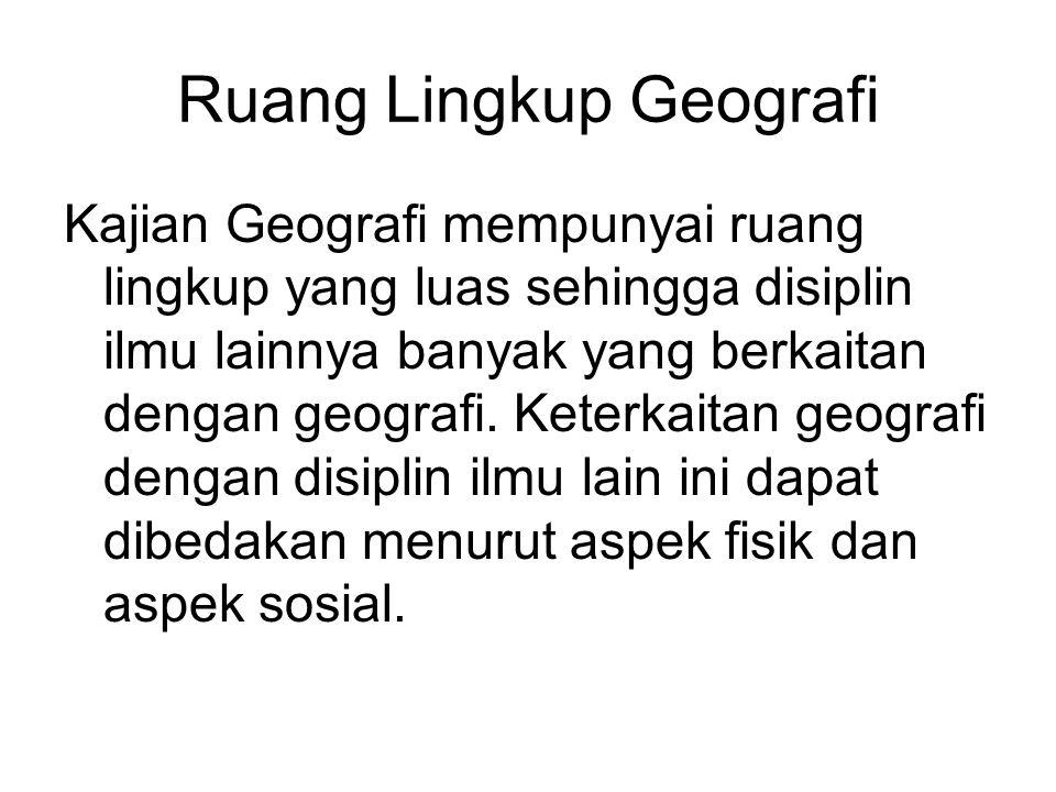 Ruang Lingkup Geografi