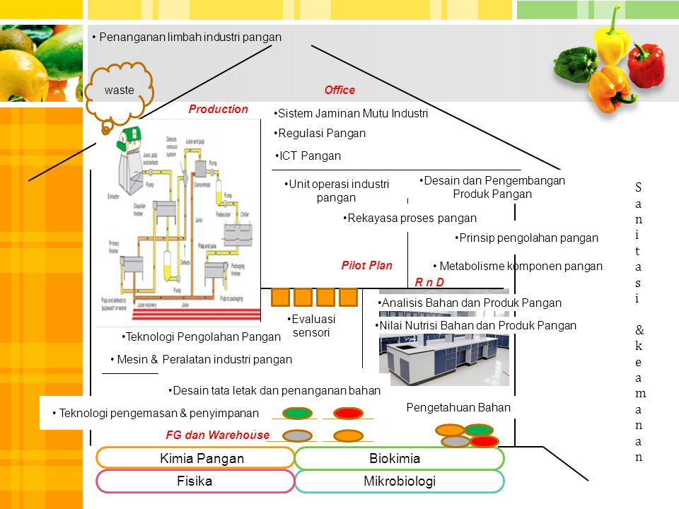 1 S a n i t s & k e m Kimia Pangan Biokimia Fisika Mikrobiologi