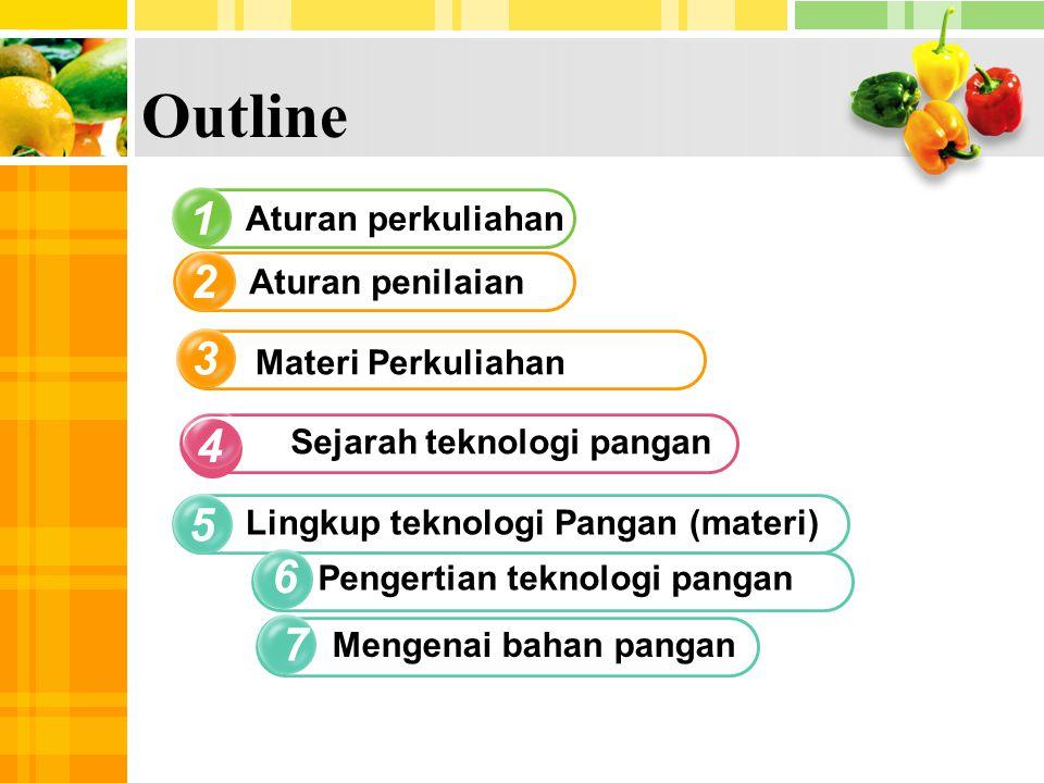 Outline 1 2 3 4 5 6 7 Aturan perkuliahan Aturan penilaian