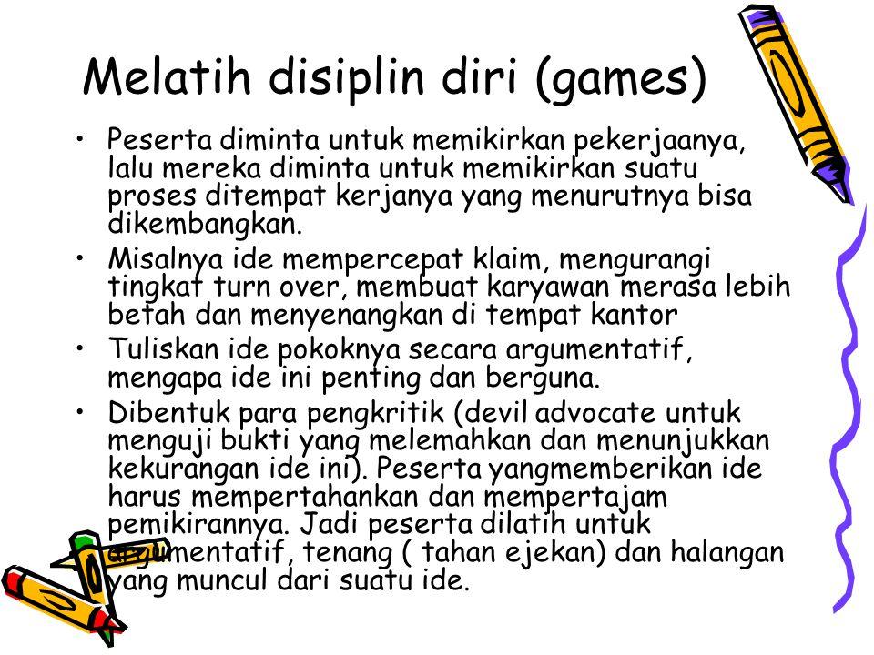 Melatih disiplin diri (games)