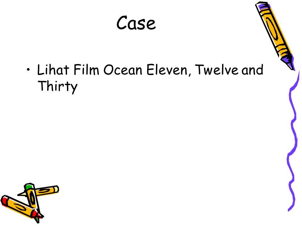 Case Lihat Film Ocean Eleven, Twelve and Thirty