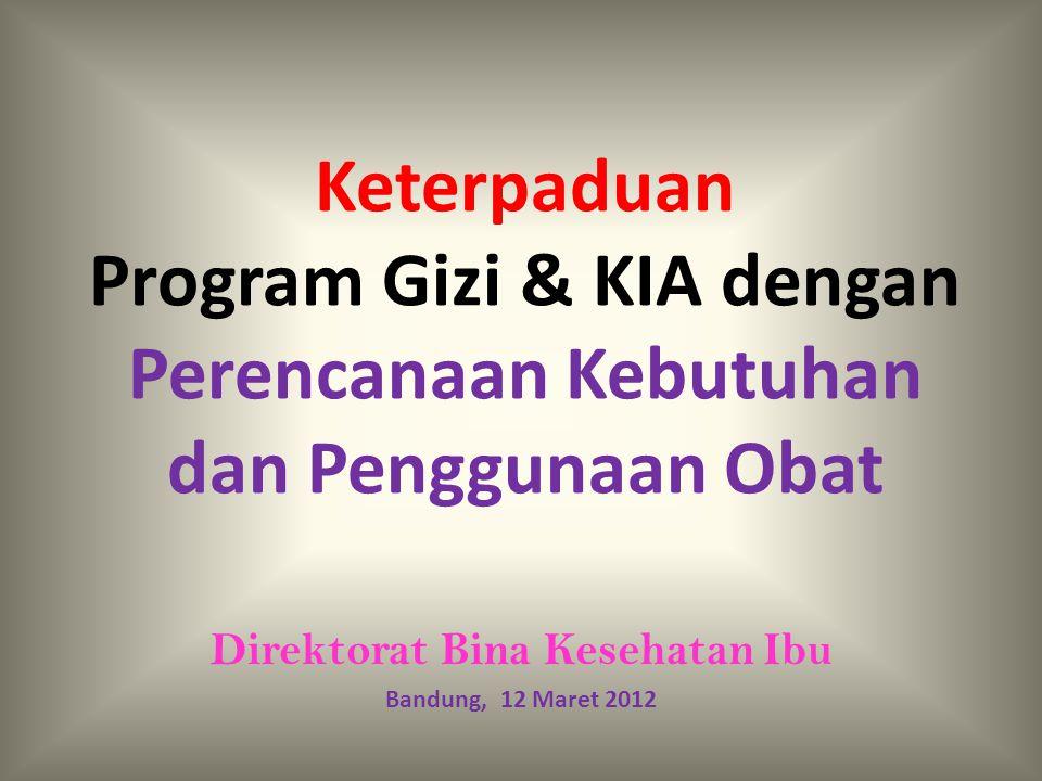 Direktorat Bina Kesehatan Ibu Bandung, 12 Maret 2012