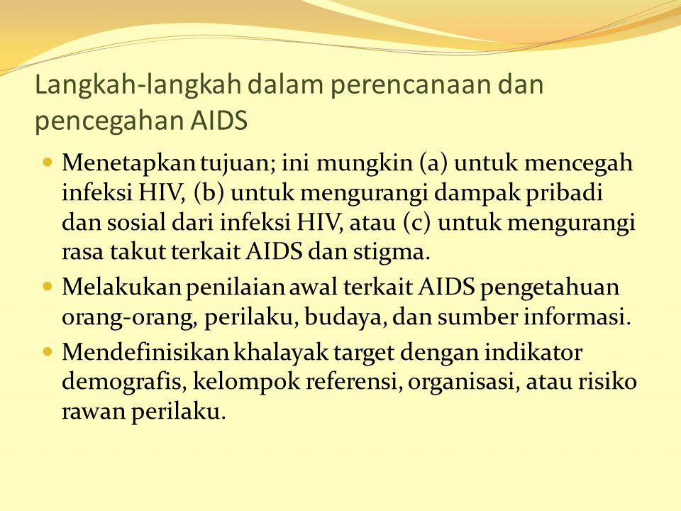 Langkah-langkah dalam perencanaan dan pencegahan AIDS