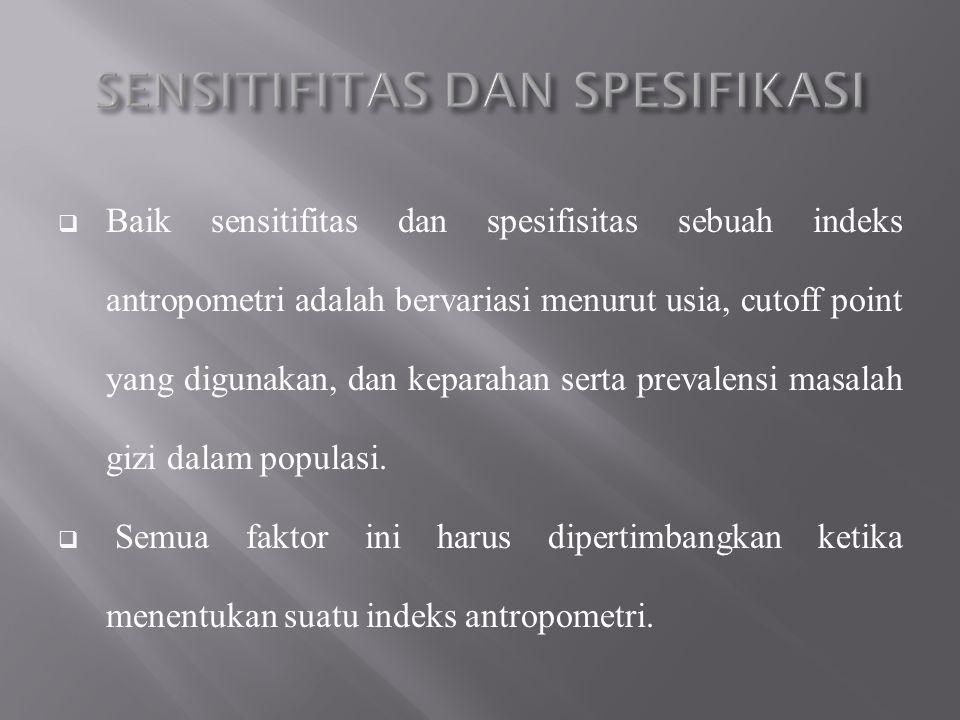 SENSITIFITAS DAN SPESIFIKASI