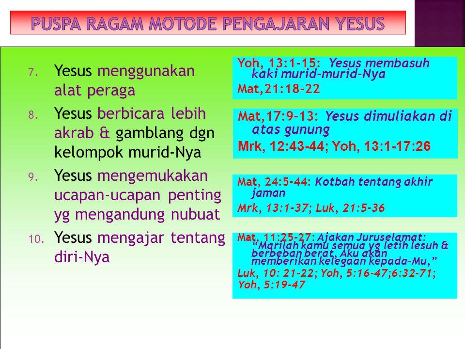 PUSPA RAGAM MOTODE PENGAJARAN YESUS