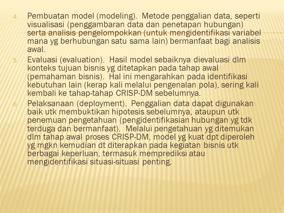 Pembuatan model (modeling)