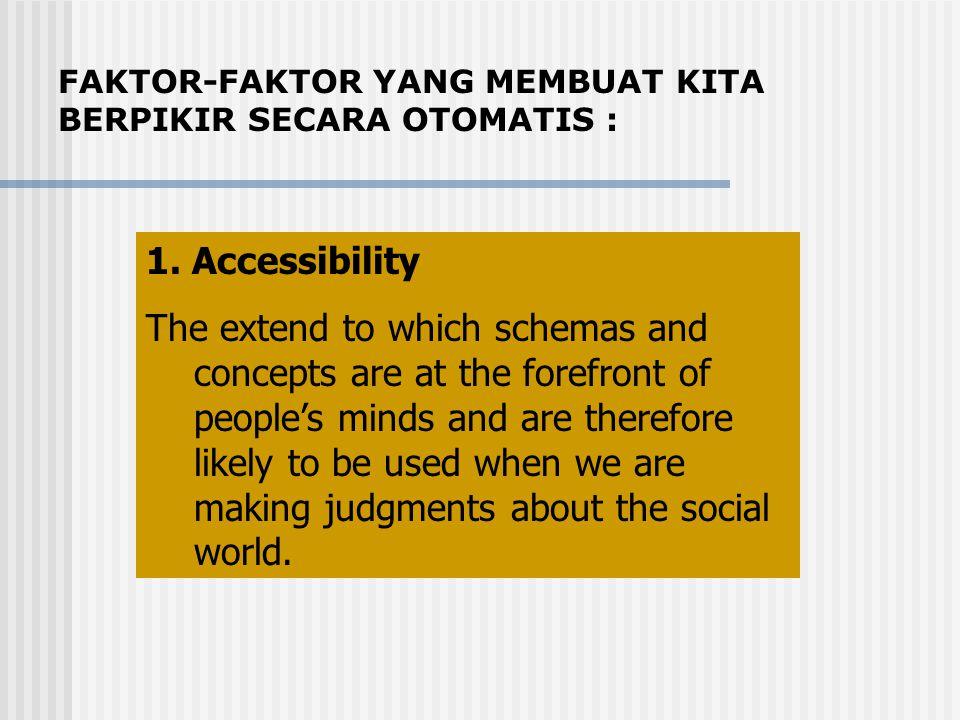 FAKTOR-FAKTOR YANG MEMBUAT KITA BERPIKIR SECARA OTOMATIS :