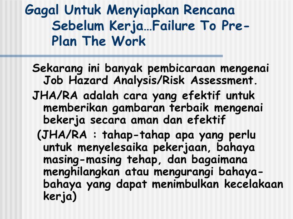 Gagal Untuk Menyiapkan Rencana Sebelum Kerja…Failure To Pre-Plan The Work