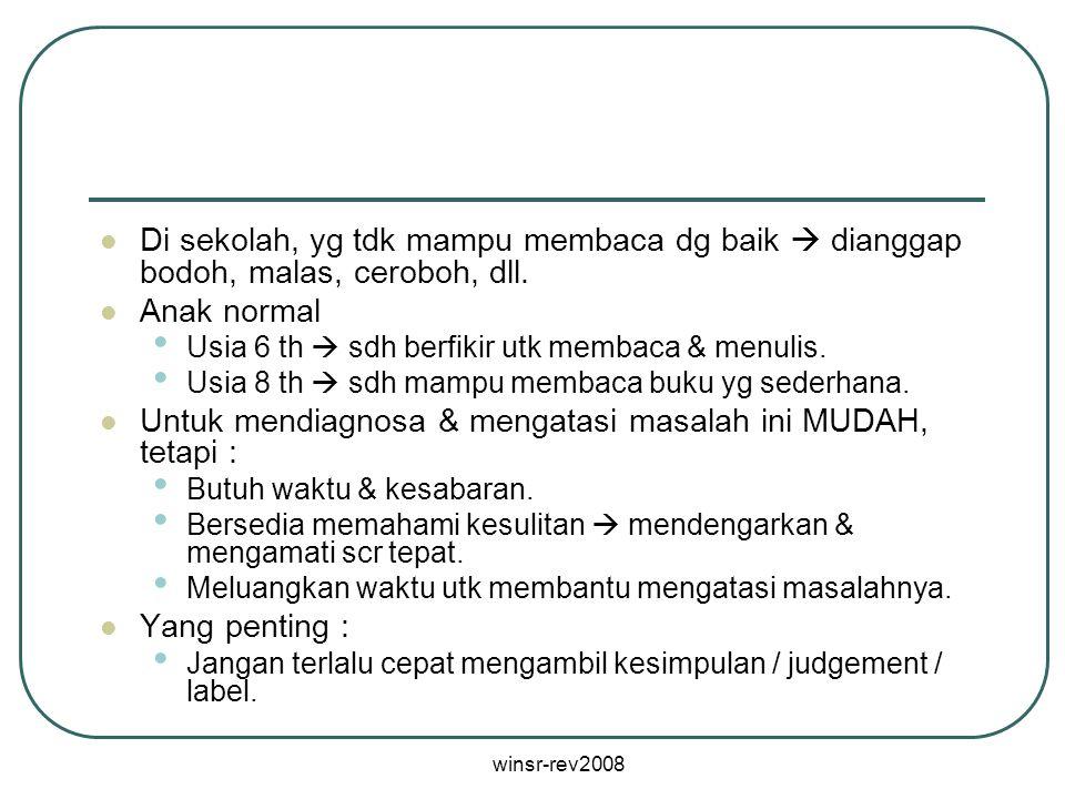 Untuk mendiagnosa & mengatasi masalah ini MUDAH, tetapi :