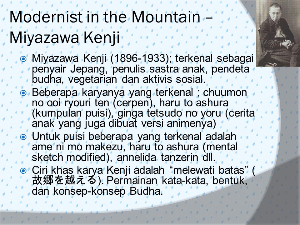 Modernist in the Mountain – Miyazawa Kenji