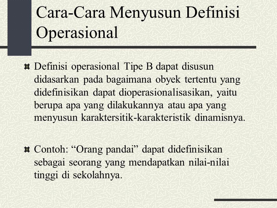 Cara-Cara Menyusun Definisi Operasional