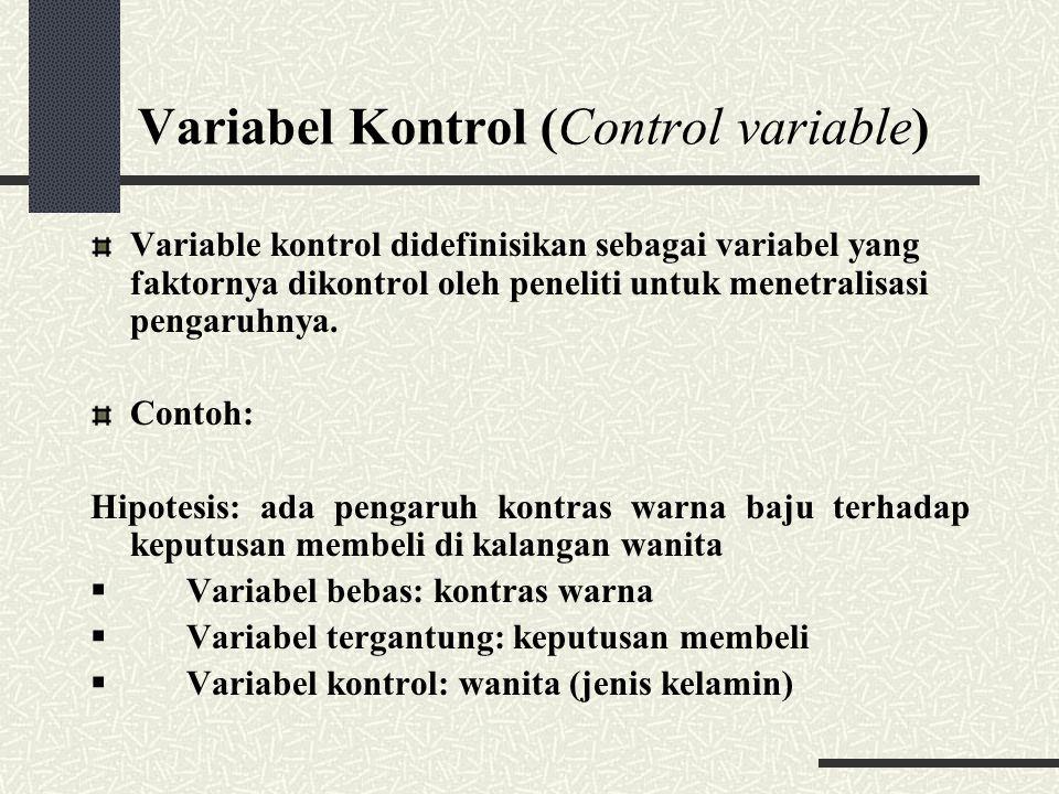 Variabel Kontrol (Control variable)
