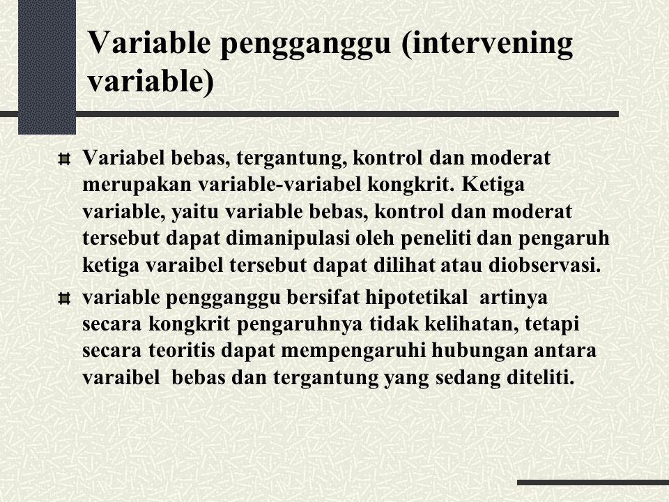 Variable pengganggu (intervening variable)