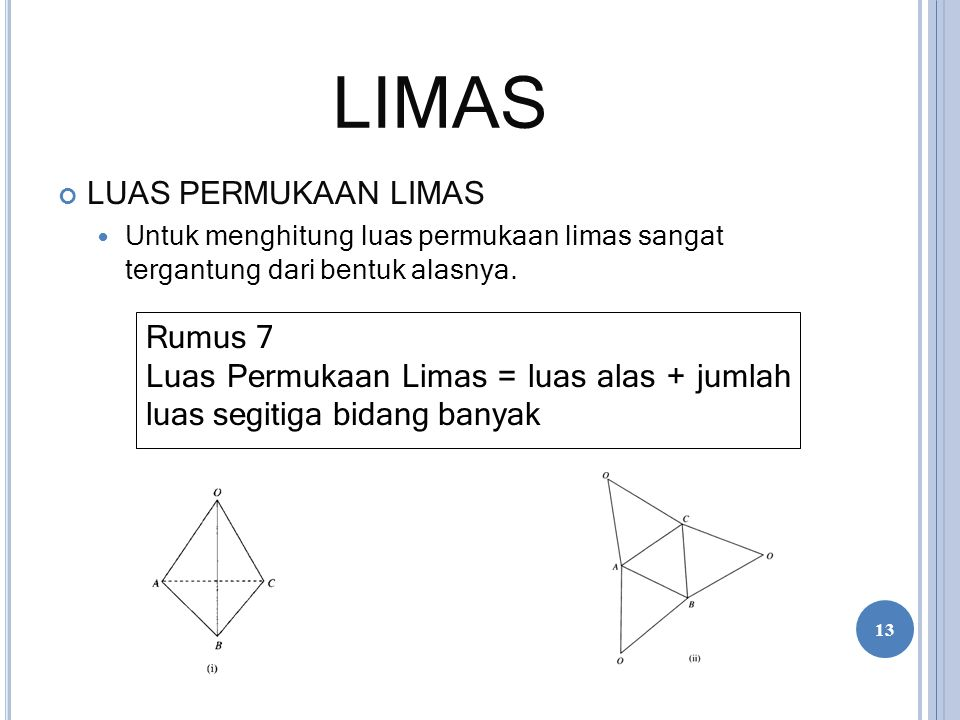 LIMAS LUAS PERMUKAAN LIMAS Rumus 7