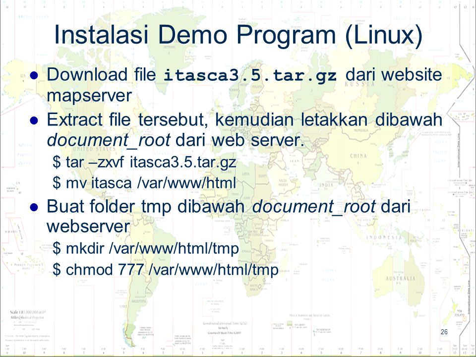 Instalasi Demo Program (Linux)
