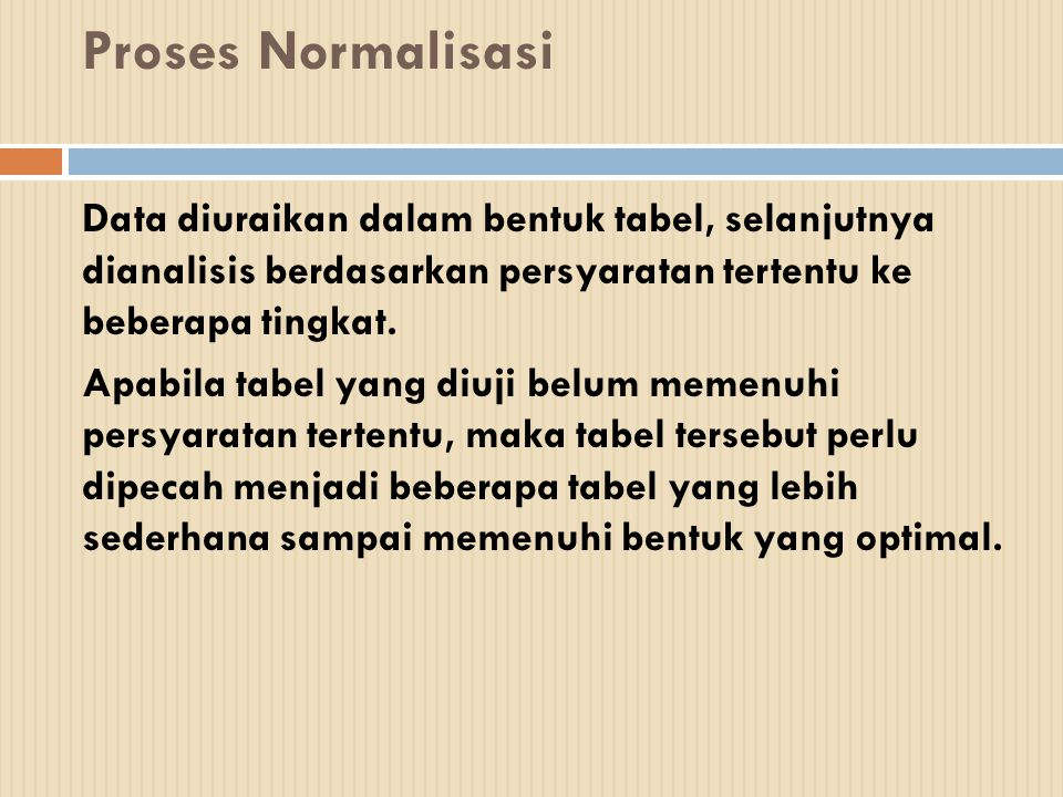 Proses Normalisasi