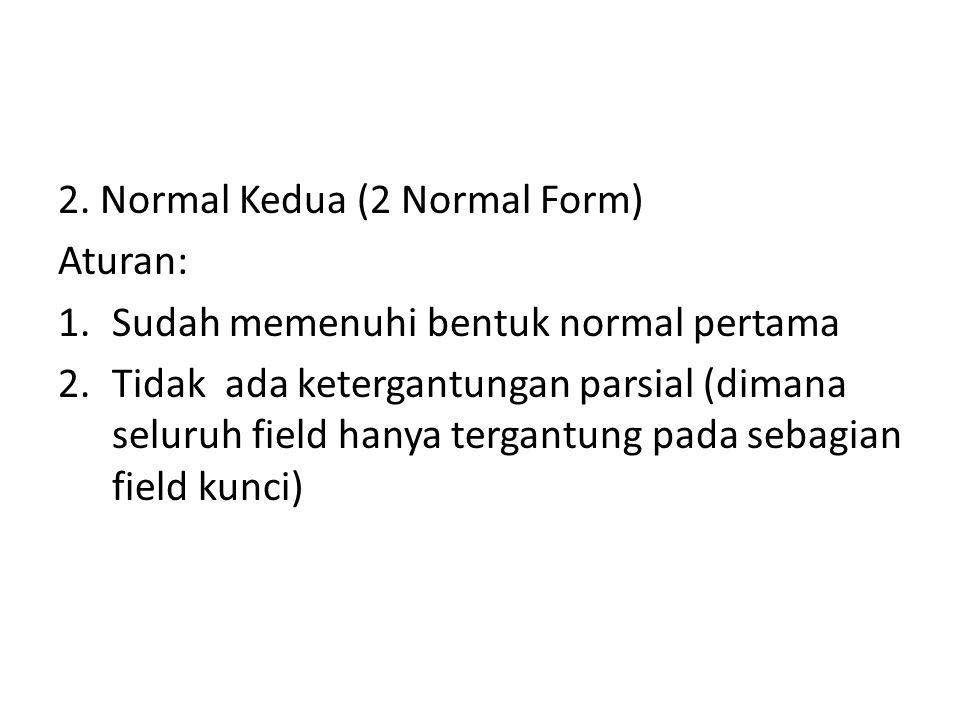 2. Normal Kedua (2 Normal Form)