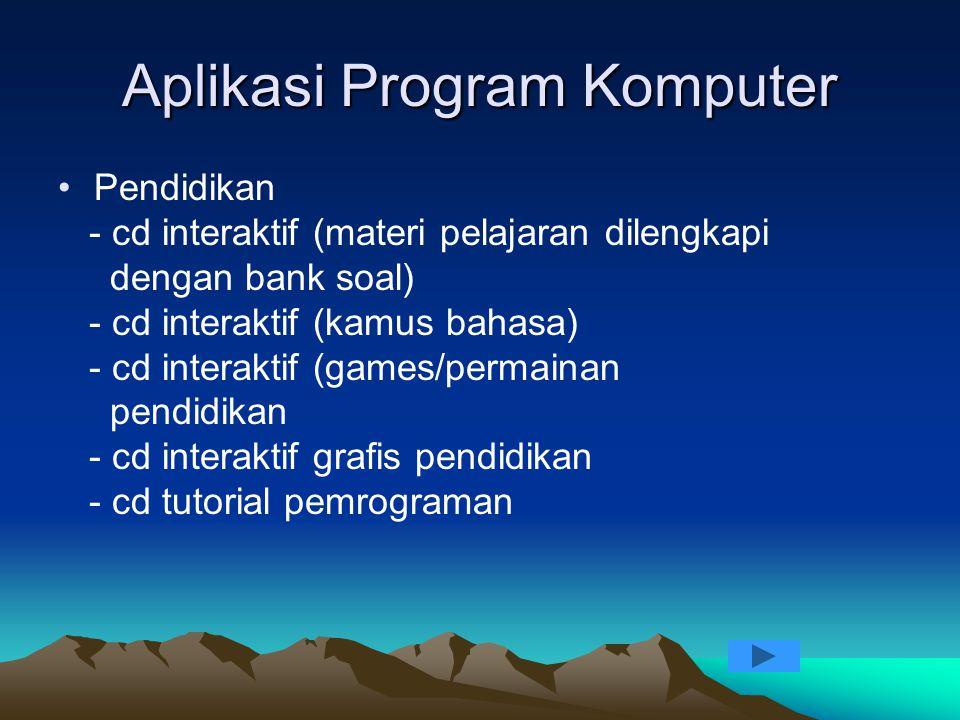 Aplikasi Program Komputer