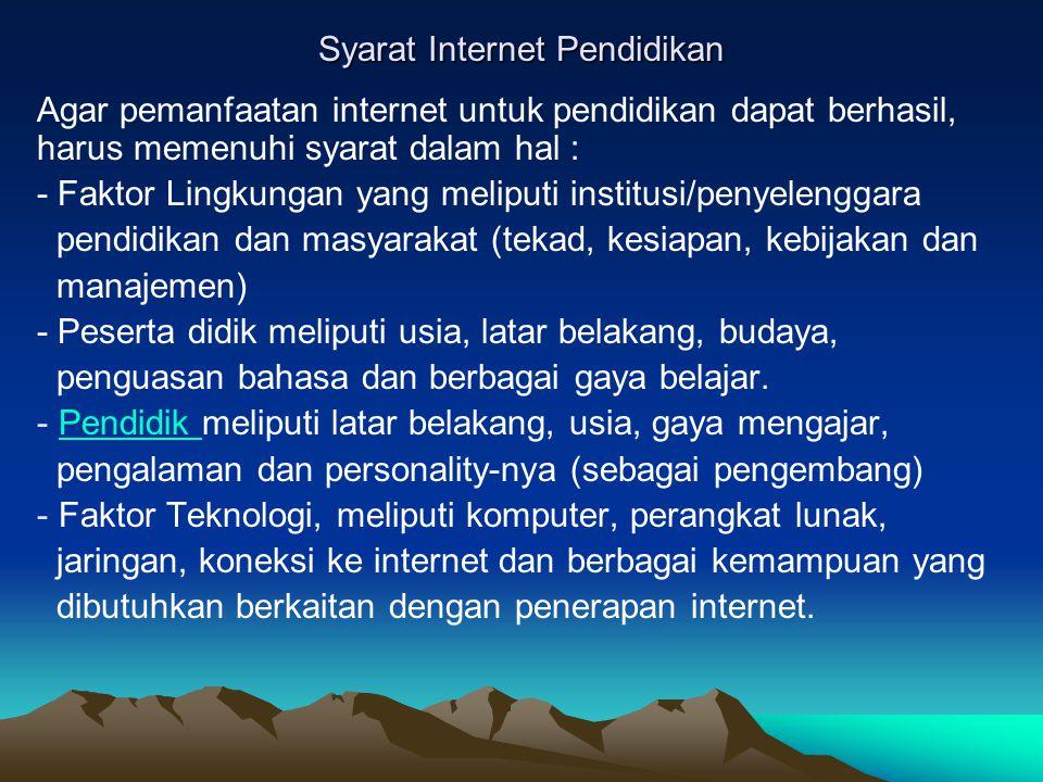 Syarat Internet Pendidikan