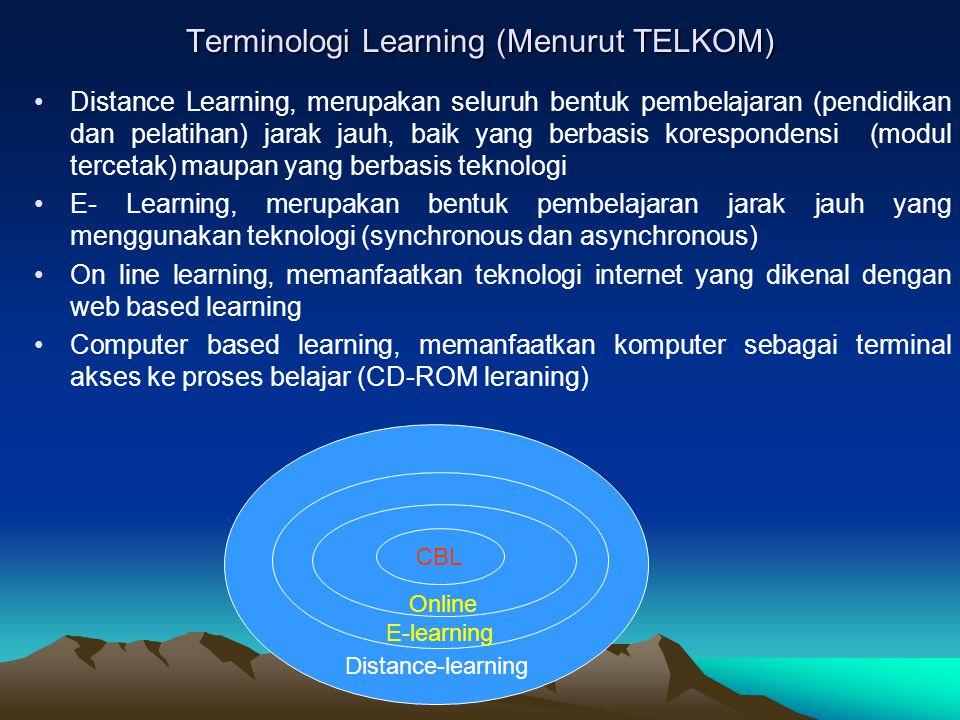 Terminologi Learning (Menurut TELKOM)
