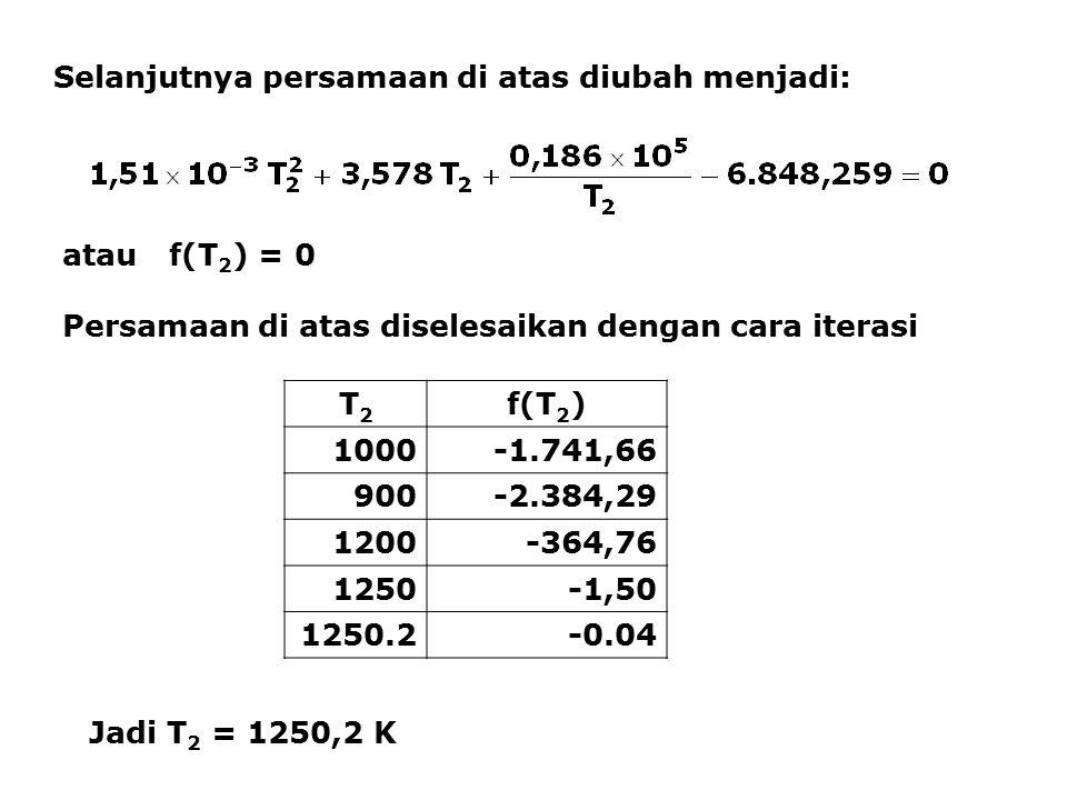 Selanjutnya persamaan di atas diubah menjadi: