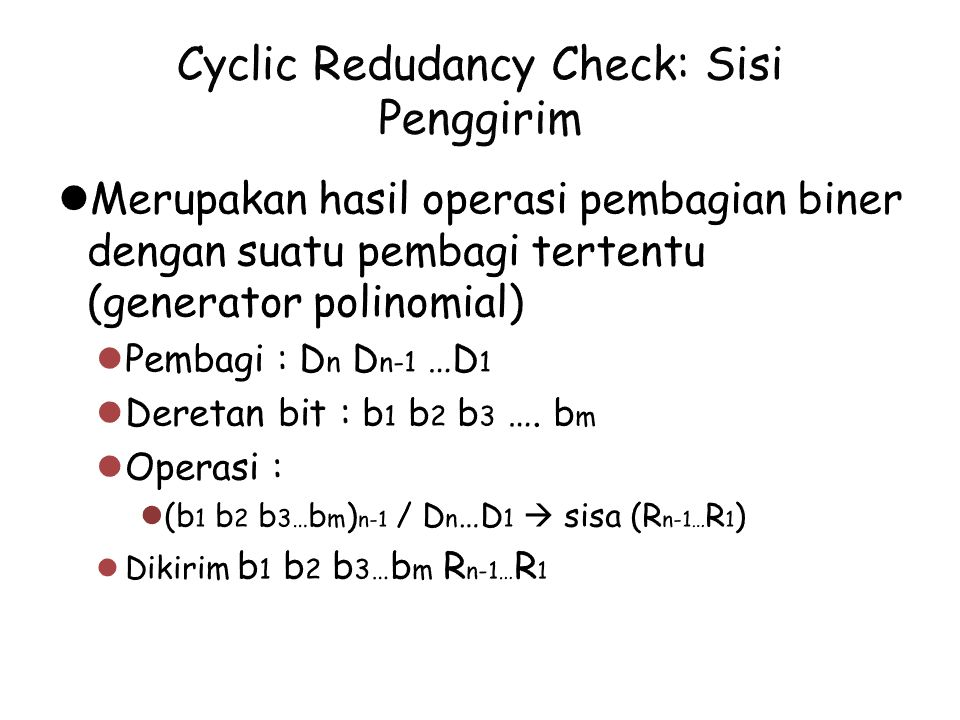 Cyclic Redudancy Check: Sisi Penggirim