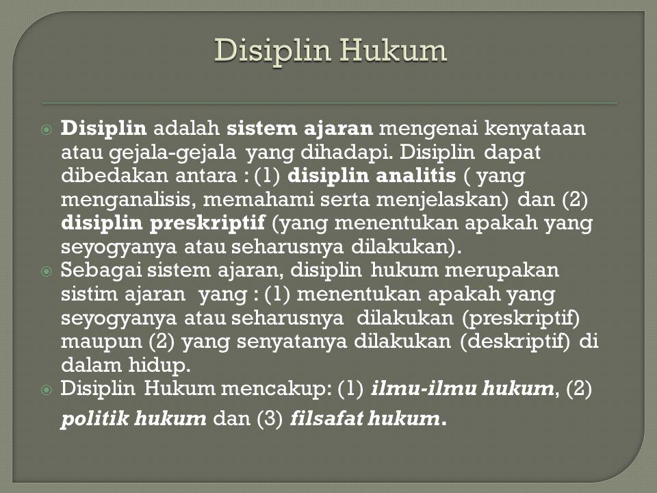 Disiplin Hukum