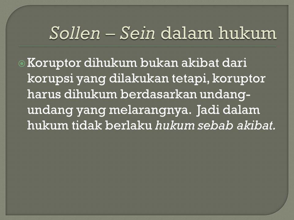Sollen – Sein dalam hukum
