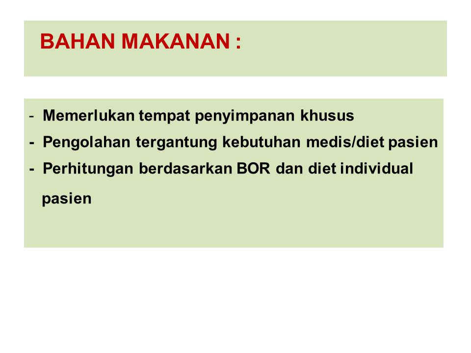 BAHAN MAKANAN :