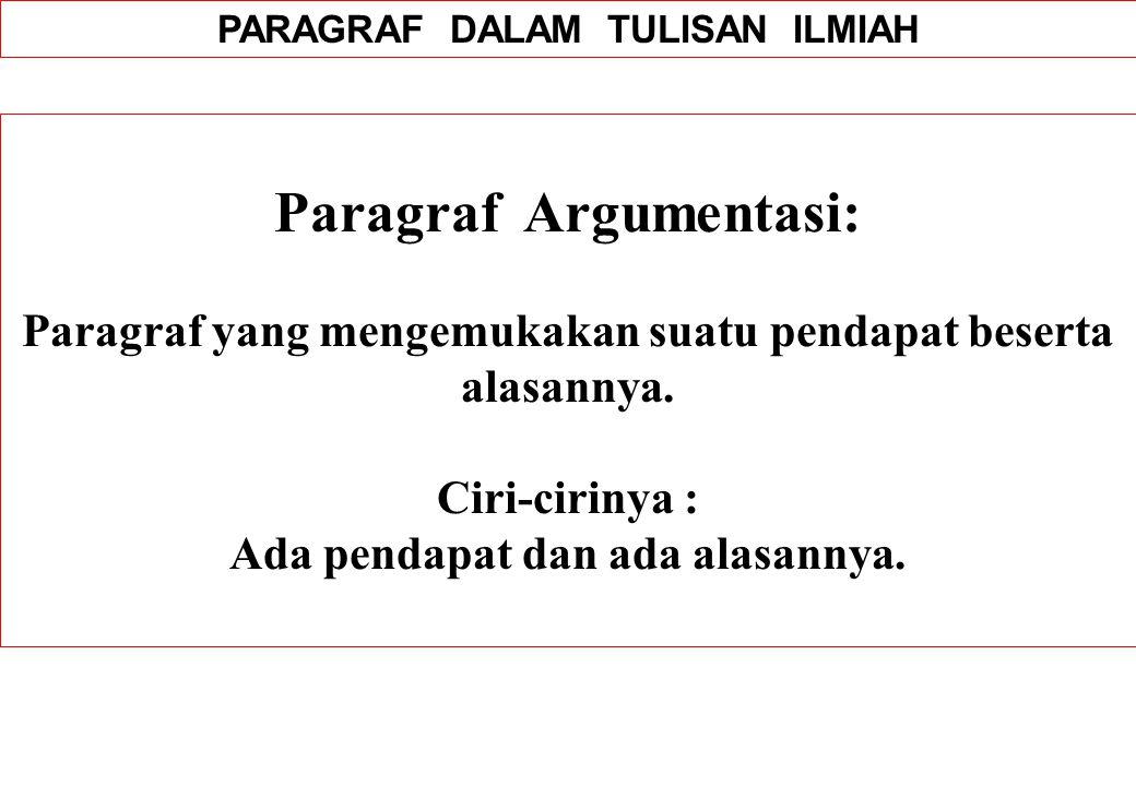 Paragraf Argumentasi: