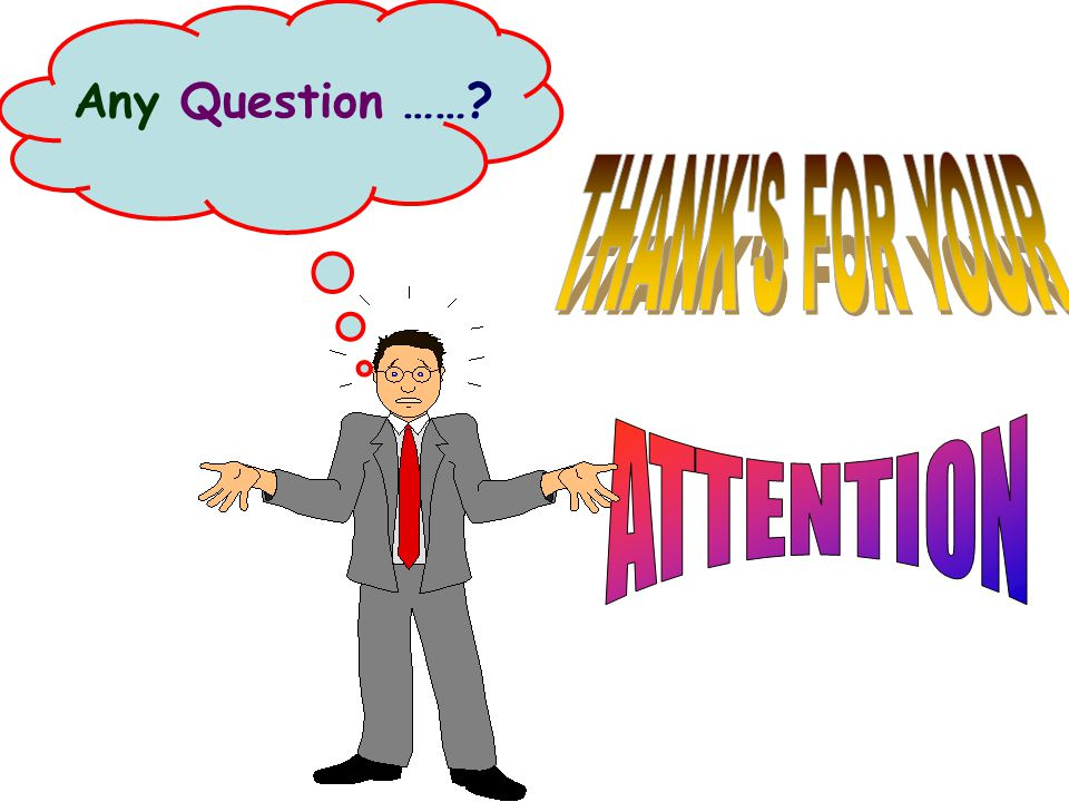 Any Question …… THANK S FOR YOUR ATTENTION
