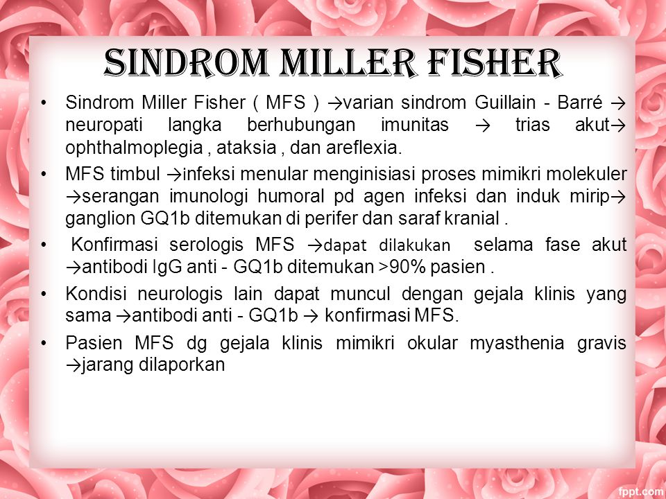 SINDROM MILLER FISHER