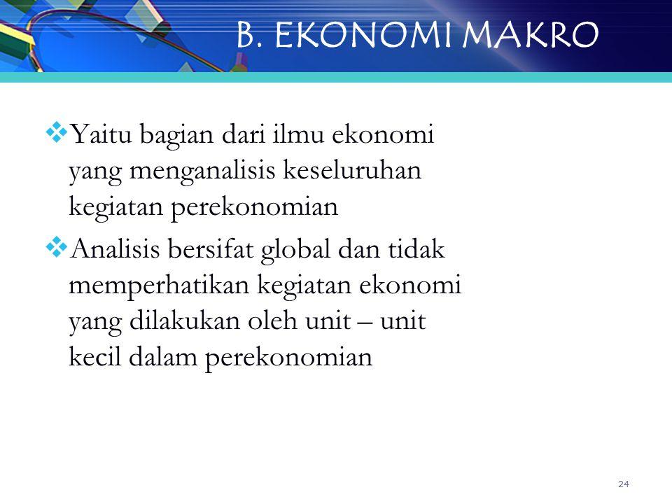 B. EKONOMI MAKRO