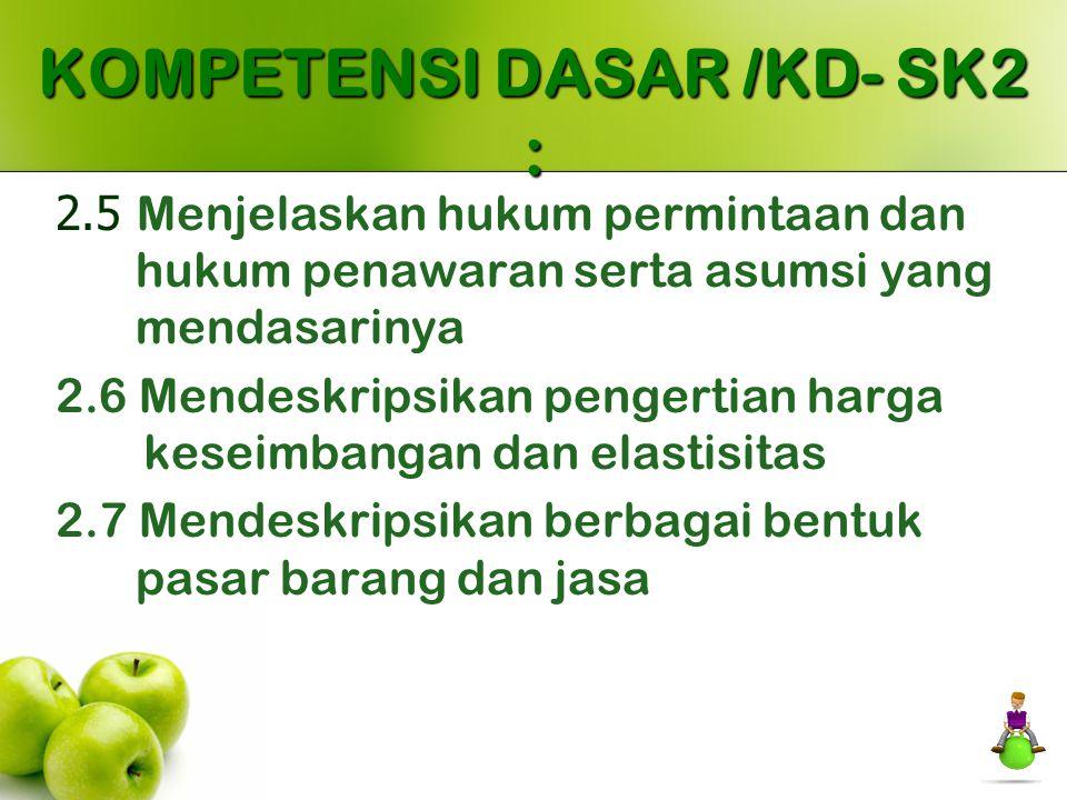 KOMPETENSI DASAR /KD- SK2 :