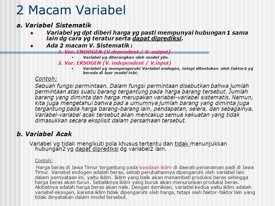 2 Macam Variabel a. Variabel Sistematik.