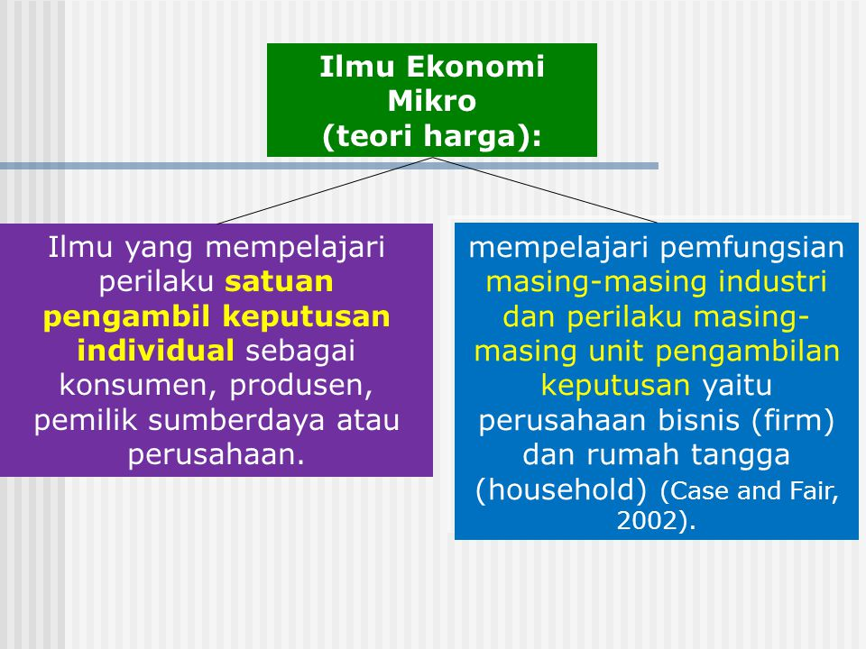 Ilmu Ekonomi Mikro (teori harga):