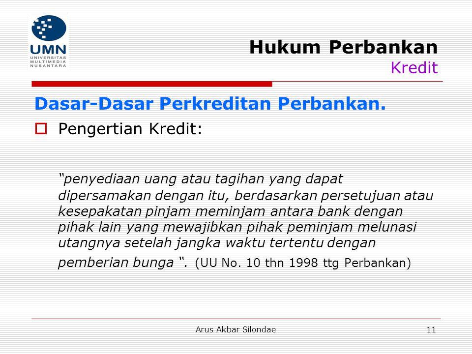 Hukum Perbankan Kredit