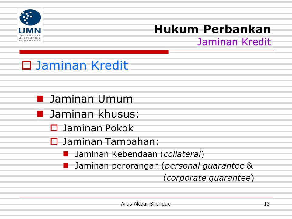 Hukum Perbankan Jaminan Kredit