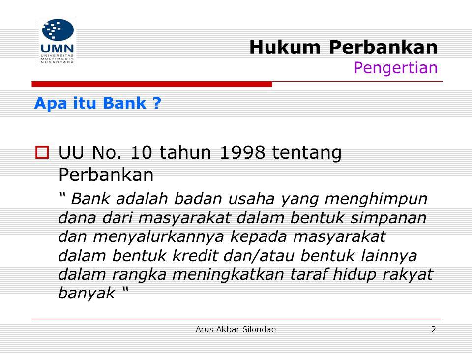 Hukum Perbankan Pengertian